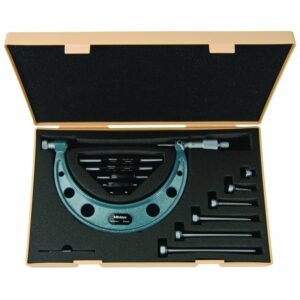 """Mitutoyo Outside Micrometer Set 0-6"""" x .001"""" Interchangeable Anvils"""