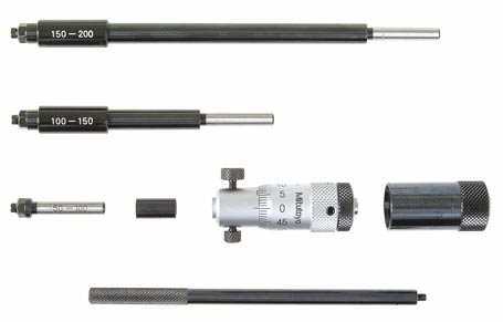 Mitutoyo Inside Micrometer Set 50-300mm Interchangeable Rod Type