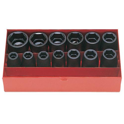 "14241M Impact Socket Set 13 pc 1/2""Dr 10-27mm"