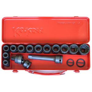 "14245M Impact Socket Set 18pc 1/2""Dr 10-27mm"