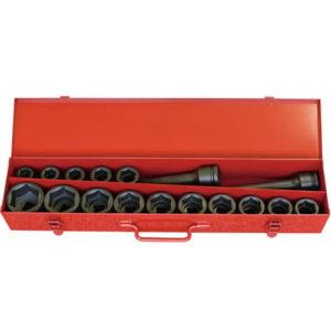 "16245M Impact Socket Set 17pc 6pt 3/4""Dr 19-50mm"
