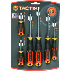 Tactix 6pc Screwdriver Set - Slot