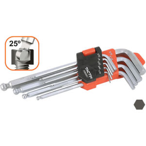 Tactix Hex Key Long 9Pc SAE