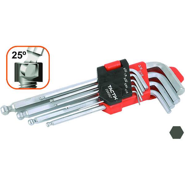 Tactix 9pc Hex Key Ball Point End Set-Metric
