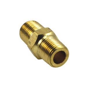 Champion 1/8in BSP Brass Hex Nipple - 2pk (BP)