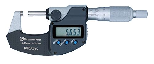 Mitutoyo Digimatic Micrometer 0-25mm x 0.001mm Coolant Proof with Data Output