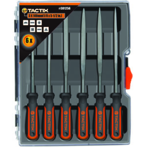 Tactix 140mm Needle File Set 6pc