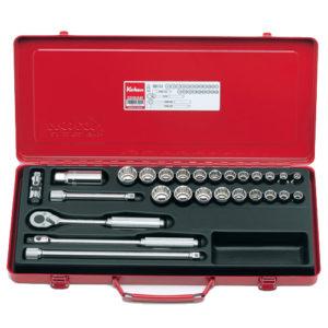 """3206AM Socket Set 12pt 27pc 3/8""""Dr 3/8-7/8"""" & 7-22mm"""