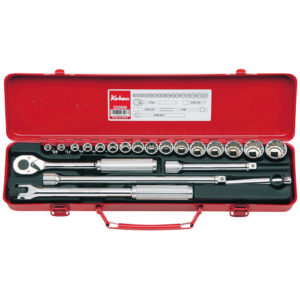 "3206M Socket Set 12pt 21pc 3/8""Dr 6-22mm"