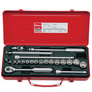 "3210M Socket Set 6 & 12pt 22pc 3/8""Dr 6pt 6-12mm & 12pt 13-22mm"