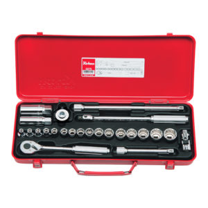"3275 Socket Set 6 & 12pt 24pc 3/8""Dr 6-22mm & 16-20.8mm Spark Plug Skts"