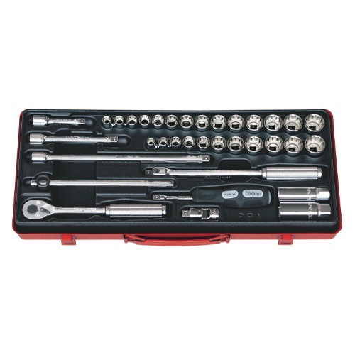 """3279AM Socket Set 12pt 35pc 3/8""""Dr 5/16-7/8"""" & 9-22mm"""