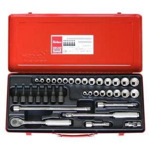 """3281AM Socket Set 36pc 3/8""""Dr 12pt 5/16-7/8"""" & 8-22mm"""