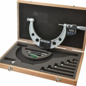 "Mitutoyo Digimatic Outside Micrometer Set 0-6""/150mm Interchangeable Anvil Type"