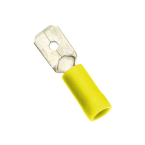 Champion Yellow Male Push - On Spade Terminal - 100pk