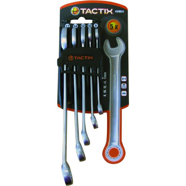 Tactix 5pc Combination Spanner Set - Metric