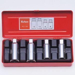 """4211M Stud Puller Set 4pc 1/2""""Dr 6-12mm"""