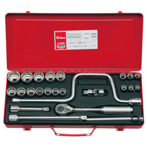 "4248M Socket Set 12pt 24pc 1/2""Dr 10-32mm"