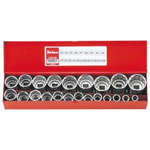 """4251M Socket Only Set 12pt 22pc 1/2""""Dr 10-32mm"""