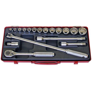 "4289M Socket Set 12pt 18pc 1/2""Dr 8-32mm"