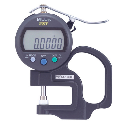 "Mitutoyo Digimatic Thickness Gauge .400""/10mm Standard Type with Ceramic SpIndle/Anvil"
