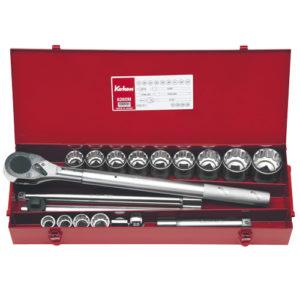"""6260M Socket Set 12pt 20pc 3/4""""Dr 21-50mm"""
