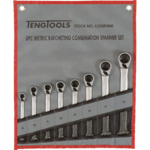 Teng 8pc Rev Ratchet Metric Spanner Set 8-19Metric