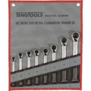Teng 8pc Rev Ratchet Metric Spanner Set 8-19Metric