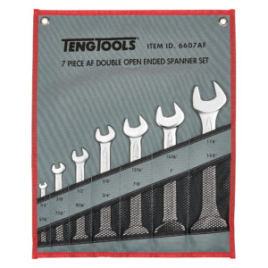 Teng 7pc Double Off-Set Ring Spanner Set 1/4-1-1/4in