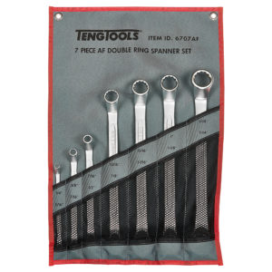 Teng 7pc Double Open-End Spanner Set 1/4-1-1/4in