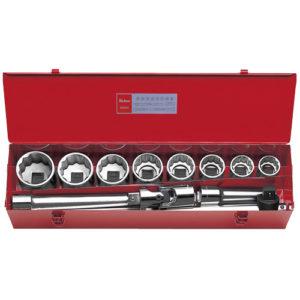"""8200M Socket Set 12pt 12pc 1""""Dr 35-63mm"""