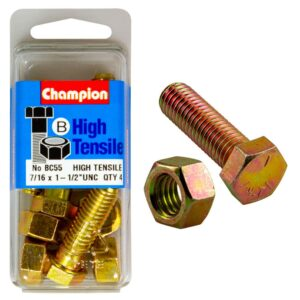 Champion 1-1/2in x 7/16in Bolt And Nut (B) - GR5