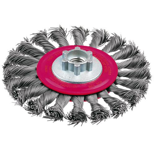 HSR0115KM14 Wire Wheel High Speed Twist Knot  115mm x 25mm x 0.5mm - M14 x 2 - Tempered Steel