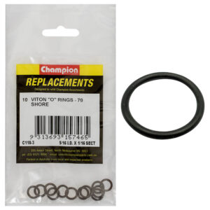 Champion 5/16in (I.D.) x 1/16in Imperial Viton O-Ring -10pk