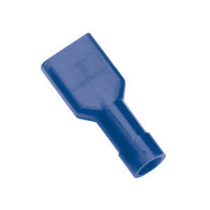 BLUE FEMALE INSULATED PUSH-ON SPADE TERMINAL