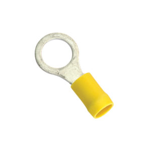 5/16IN / 8MM YELLOW RING TERMINAL - 5PK