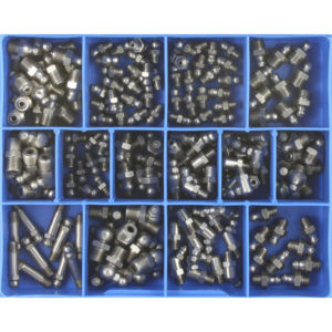 170PC MM/IMP. GREASE NIPPLE ASSORTMENT STAINLESS