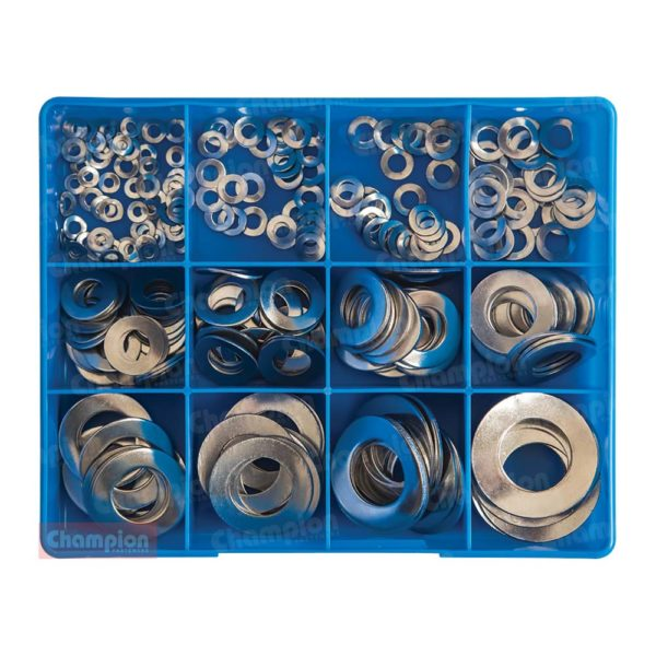 Champion 255pc Metric Wave Washer Assortment 304/A2