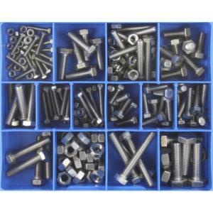 174PC STAINLESS METRIC (ISO) SET SCREWS & NUTS