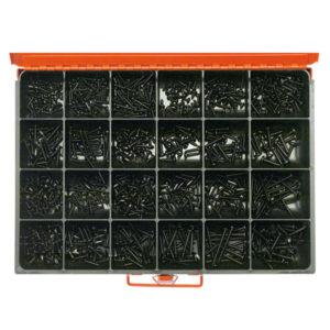 830PC SELF TAPPING SCREW ASSORTMENT (BLACK ZINC)