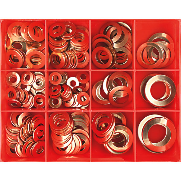 260PC IMPERIAL 20G COPPER WASHER ASSORTMENT