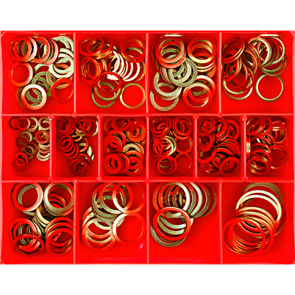 305PC METRIC COPPER SEALING WASHER ASSORTMENT