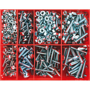 300PC ROOFING BOLT & NUT ASSORTMENT (8 SIZES)