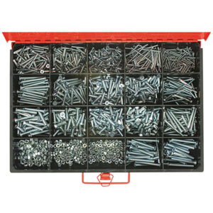 1650PC METRIC MACHINE SCREWS & NUT ASSORTMENT CSK