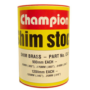 BRASS SHIM ASSORTMENT 60MM WIDE ROLL (5 SIZES)