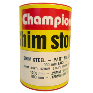 STEEL SHIM ASSORTMENT 60MM WIDE ROLL (4 SIZES)