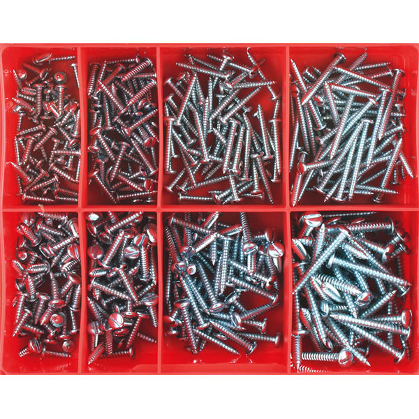 400PC SLOTTED SELF TAPPING SCREW ASSORTMENT