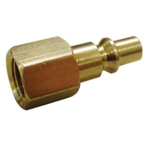 """A6556 Female Connector Brass 1/4"""" BSP (Aro Type) 2pc Carded"""