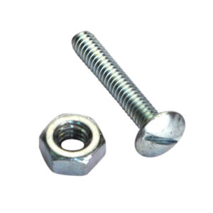 1/4IN X 1IN UNC ROOFING SET SCREW & NUT - 50PK