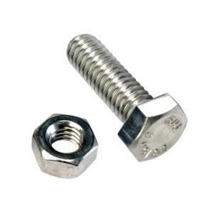 M12 X 45MM X 1.25 SET SCREW W/NUT - GR8.8 - 3PK